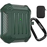 Valkit Compatible AirPods Case Cover for Men Women, Full-Body Rugged Protective Airpods Cover with Keychain Air Pod 2 Case for Airpods Wireless Charging Case 2 & 1 - Green