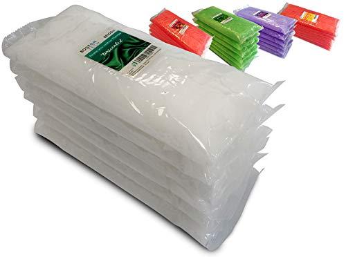 Boston Tech BE-106b,Paquete de 6 bloques de Cera de parafina sin aroma para tratamiento de manos y pies. Tratamiento para artritis y dolores musculares