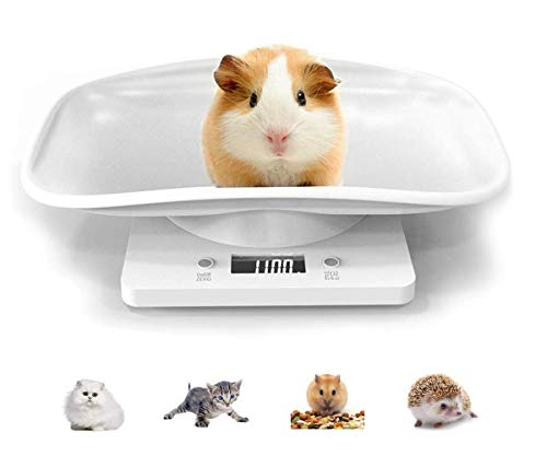 Searea Digital Pet Scale Multi-Function Digital Scale, Smart Pet Dog Cat Scale 22 Pound (lbs) Capacity, Accurate Digital Scale for Hamster, Tortoise,Kitten Doggie