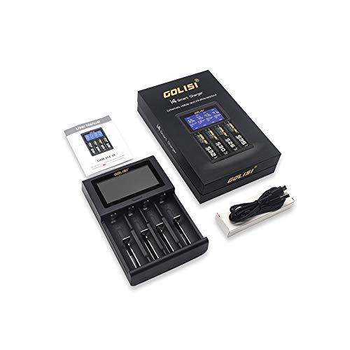 Golisi i4 oplader 18350 18650 20700 21700 26650 snellaadfunctie LCD-display