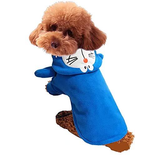 Topelec - Disfraz de gato Doraemon divertido para perro, ropa de corsario,...