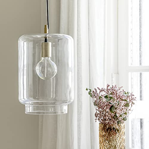 Kenay Home - Lámpara de Techo Salón Comedor Dormitorio Decorativa Vintage Cristal Full