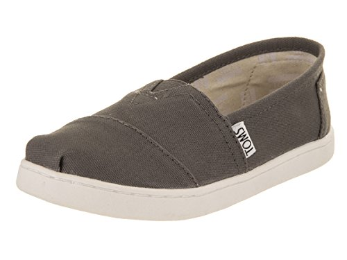 TOMS Youth Alpargata Canvas Espadrille, 3.5 UK, Ash Canvas