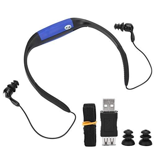 zhuolong IPX8 Impermeable Natación Auriculares Reproductor de música MP3 Radio FM Reproductor de música Se Adapta a Deportes acuáticos