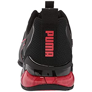 PUMA mens Cell Valiant Running Shoe, Black/High Risk Red, 11.5 Wide US
