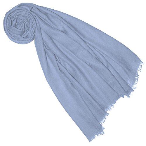 Lorenzo Cana Lorenzo Cana Damen Pashmina Schal Schaltuch Hellblau Babyblau 100% Kaschmir leicht kuschelweich Kaschmirschal Kaschmirtuch Kaschmirpashmina einfarbig 7830888