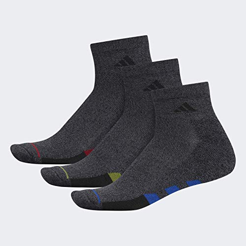 adidas - Calzini imbottiti da uomo (3 paia), Uomo, Calzini, 104454, Onix Marl/ Onix - Onix Marl/ Light Onix/ Co, Large, (Shoe Size 6-12)
