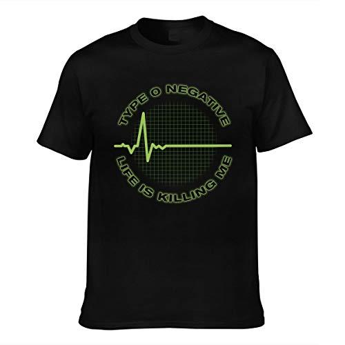 Herren Type O Negative Logo Vintage Baumwolle Tee Shirts Bekleidung T Shirt Kurzärmlig Crew Neck Black XL T-Shirt Für Men