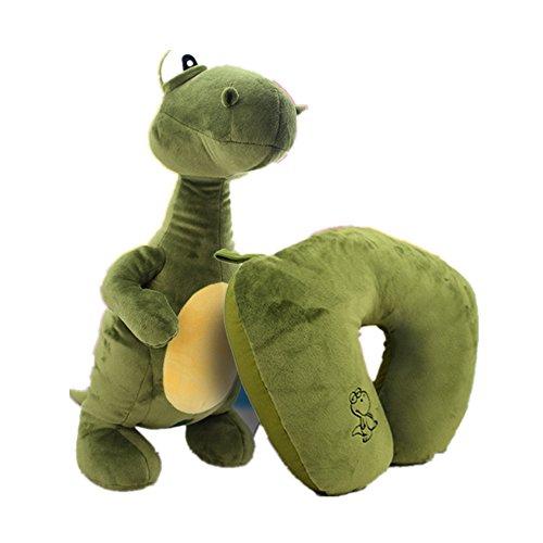 bebe cocoon animal peluches Déformable Oreiller en U en peluche Oreiller de voyage au cou (dinosaure)
