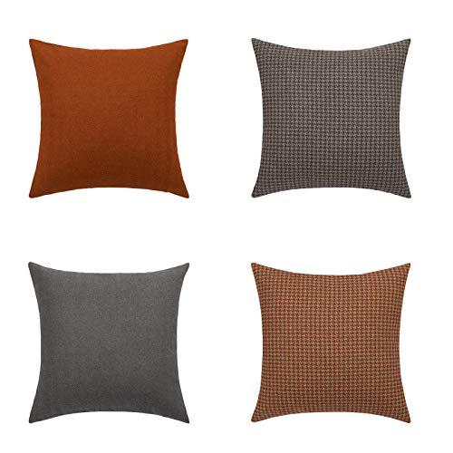 Cushion Cover Simple fine Grain Plaid Pillowcase 1~4 pcs Sofa Decoration Waist Pillowcase backrest Cover Without core 45cm