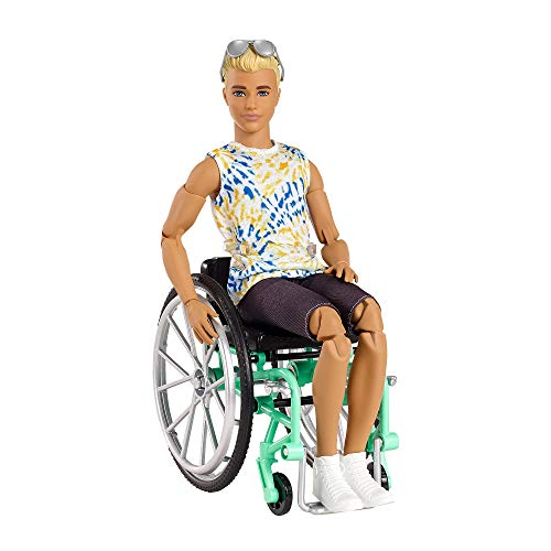 Barbie Ken Fashionistas Doll - Wheelchair & Tie-Dye Shirt