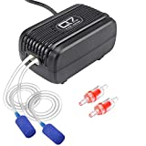 UPMCT Aquarium Air Pump with Dual Outlet Adjustable Air Valve, Ultra Silent Oxygen Air Pump with Accessories Air Stones Silicone Tube Check Valves, Suitable for 1-80 Gallon Tank (5 L/min)