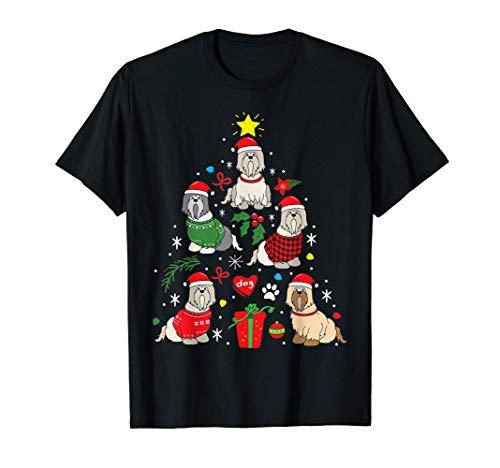 L'arbre de Noël de Lhassa Apso : un drôle de cadeau pour T-Shirt