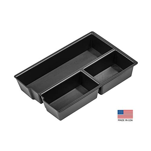 Vehicle OCD - Lower Center Console Organizer Tray for Dodge RAM 1500 (2009-18), RAM 2500/3500 (2010-18), RAM 1500 Classic (2019)(Full Console w/Bucket Seats ONLY) - Made in USA