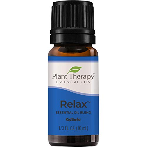 Plant Therapy Relax Essential Oil Blend for Sleep & Stress 100% Pure, Undiluted, Natural Aromatherapy, Therapeutic Grade 10 mL (1/3 oz)