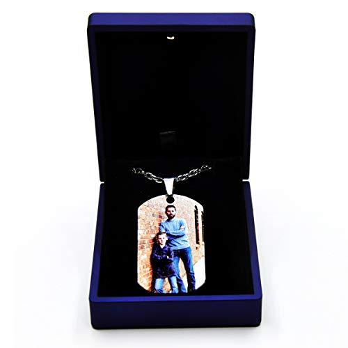Personalisierte Foto Anhänger mit wunschgravur FotogravurHalsketten mit Fotogravur für Damen und Herren