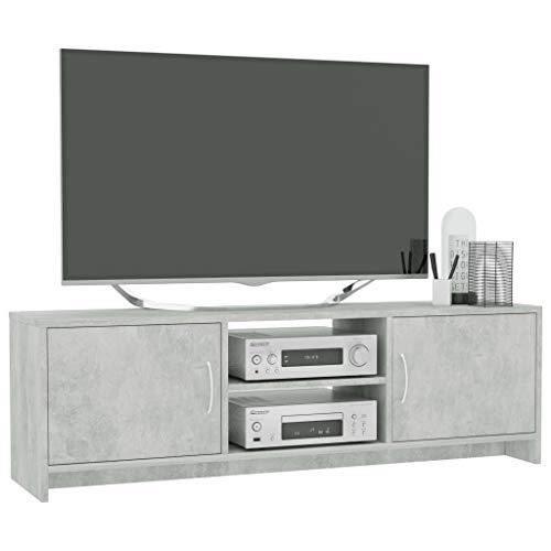 Kshzmoto Mueble para TV Mesa para TV Mueble para TV Estante para TV Mueble bajo de Pared Gris Cemento 120 x 30 x 37,5 cm aglomerado