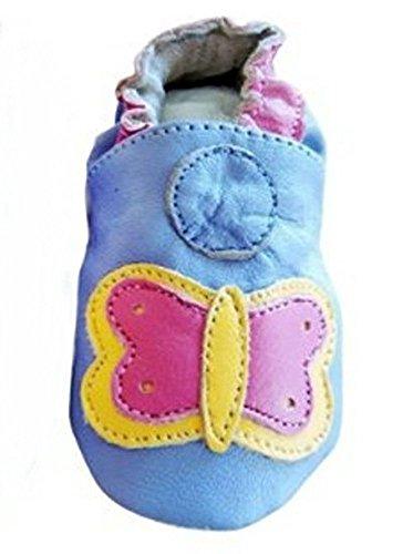 Seruna Krabbelschuh-e Kind-er Baby Lauflern Krabbel-Schuhe Leder KS5 Gr. XL/19