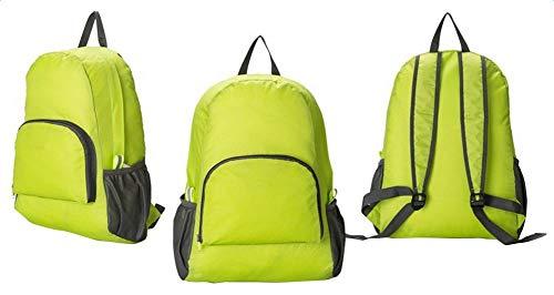 Lubier 1 Mochila Plegable Ligera Impermeable para Viajes, montañismo, para Camping, Senderismo, Playa, Gimnasio, natación, para Hombres y Mujeres, Verde