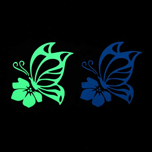 Hermosa mariposa Fly on the Flower Switch Sticker Glow in the Dark Pegatinas de pared para habitaciones de niños Decoración de bricolaje Decoración del hogar