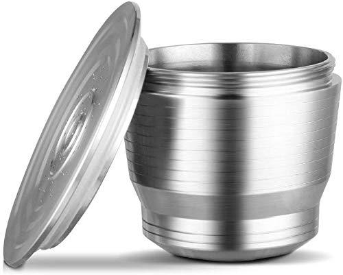 Twuky Edelstahl Nachfüllbare Kaffeekapsel, Wiederverwendbarer Kaffeekapsel Filter, Säurebeständig Gute Filtration Refillable Kaffee Kapseln Pods für Nespresso