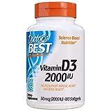 Doctor's Best - La mejor vitamina D3 2000 IU - 180Cápsulas blandas