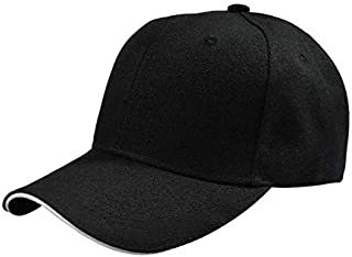 BEESCLOVER New Fashion Cap Women Men Summer Spring Cotton Caps Women Solid Adult Baseball Cap Black White Hat Snapback Women Cap W12 Black One Size