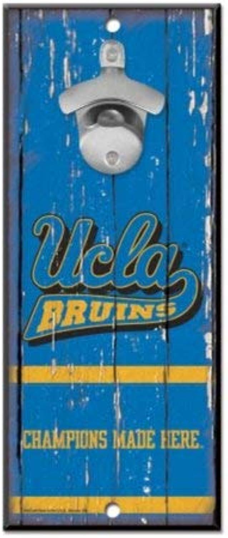 NCAA UCLA Bruins California Los Angeles Wood Bottle Opener Sign, 5  x 11 , Multicolor