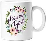 Queen54ferna Tasse à café en céramique Motif couronne de fleurs Blanc 11 oz Tasse d'anniversaire Cadeau pour maman, papa, filles