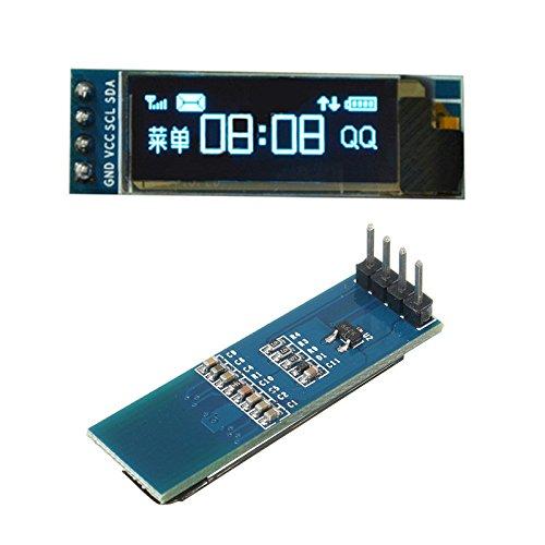 Ils - 0.91 inch 128x32 IIC I2C Blue OLED LCD Display DIY OLED Module SSD1306 Driver IC DC 3.3V 5V for Arduino PIC