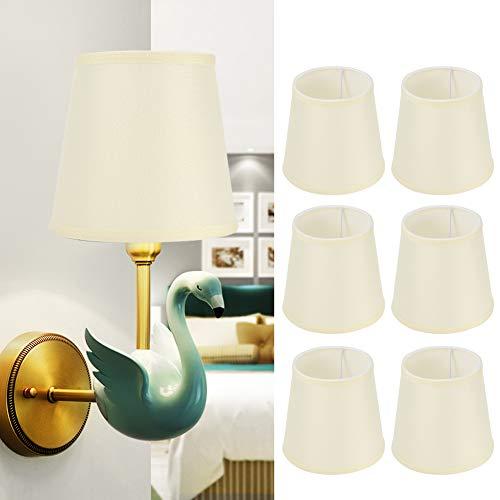 FASJ Kit de Pantalla, Pantalla de 6 Piezas, Pantalla de luz de Pared Pantalla de lámpara pequeña Pantalla de lámpara Colgante Pantalla de lámpara de Pared para Dormitorio de Oficina