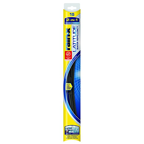 Rain-X 5079274-2 Latitude 2-IN-1 Water Repellency Wiper Blade, 16' (Pack of 1)