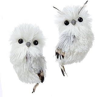 "Best Kurt Adler 5.1"" Silver Hanging Owl Christmas Ornament 2 Assorted Review"