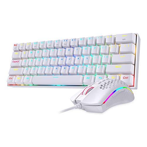 Redragon K530 60% RGB Wireless Mechanical Keyboard M808 Lightweight RGB Gaming Mouse Bundle