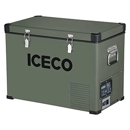 ICECO VL45 Portable Refrigerator with SECOP Compressor, 45Liters Platinum Compact Refrigerator, DC 12/24V, AC 110-240V, 0℉ to 50℉, Home & Car Use (without Insulated Cover)