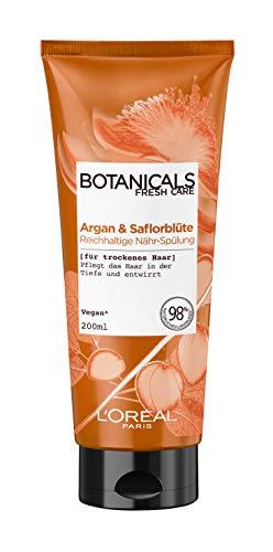 Botanicals Reichhaltige Spülung, ohne Silikon für trockenes Haar, mit Argan und Saflorblüte, pflegt das Haar in der Tiefe und entwirrt, 1er Pack (1 x 200 ml)