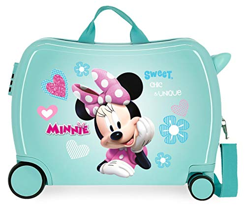 Disney Minnie Fabulous Correpasillos Maleta de Cabina Infantil Turquesa 50x39x20 cm |...