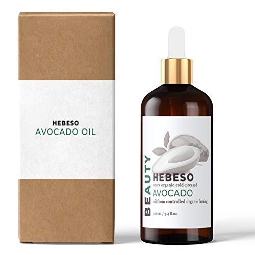 Avocadoöl 100% Reines Bio Kaltgepresst 100ml | Verbessert Kollagenbildung | hohe Konzentration an Antioxidationsmitteln | Feuchtigkeitsspendende und nahrhafte Wirkung| Dringt tief in die Haut ein