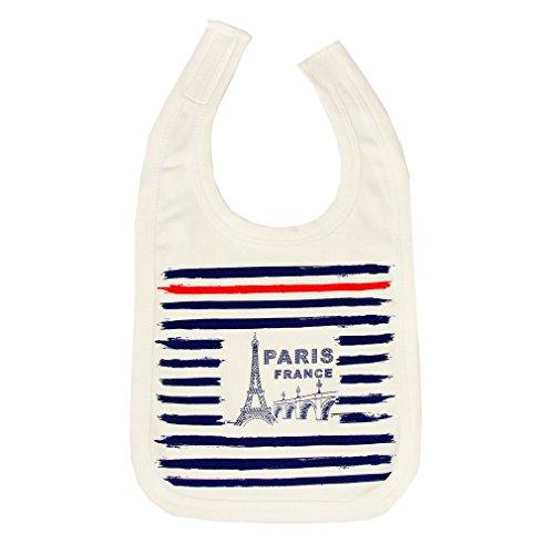 Souvenirs de France - Bavoir Bébé Paris 'Marin' - Blanc