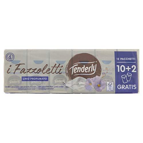 Tenderly - Fazzoletti, Pure Soft Lino, Lino Profumato - 12 pacchetti
