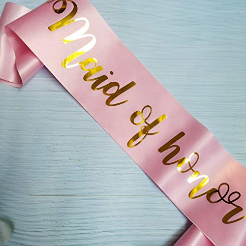 Maid of Honor Sash, Bachelorette Party Sash, Bridal Shower Decorations, Wedding Party Accessories, Chief Bridesmaid Proposal Gift Ideas