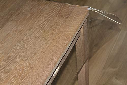 Nortufting Nappe Transparente - Largeur 180 cm - épaisseur 0,50 mm - Nappe Carrée 180 x 180 cm - Nappe Ronde 178 cm - Livré sur Tube en Carton (sans Plis) - Carrée 180 x 180 cm