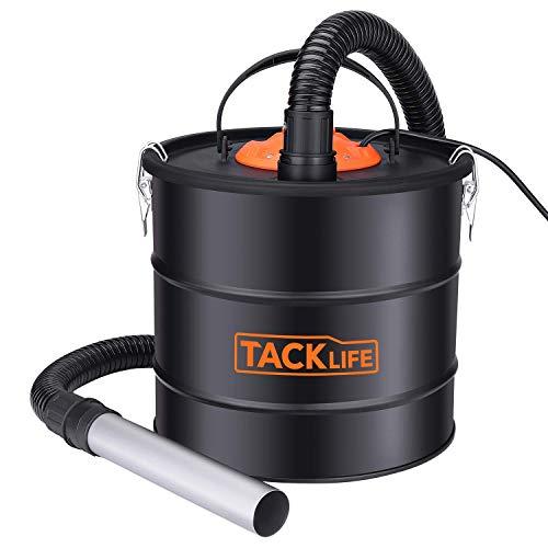 Aschesauger, TACKLIFE 18L 800W Aschesauger für kamin testsieger, HEPA Filter + Feinstaubfilterband, 5M Stromkabel, 1M Schlauch, 0,2M Aluminiumrohr, Geeignet für Grill, Kamin und Hundefutter - PVC03AA…
