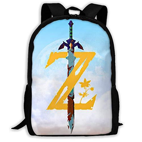 The Legend of Zelda Z Sword Adult Travel Bapa Fits 15.6 Inch Laptop Bapas School College Bag Casual Rusa for Men & Women