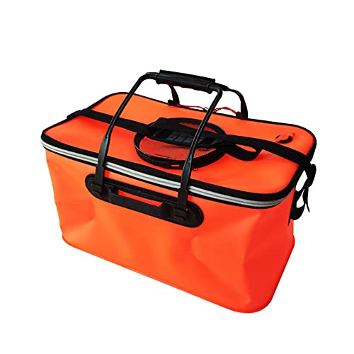 Xingli Cubo plegable, cuenco plegable para camping, jardín, exterior, cubo plegable, cubo de agua, cubo de pesca con tapa y bolsa de malla