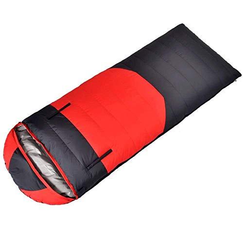 Kyman Schlafsack Rucksack Schlafsack for Erwachsene leichte warme und waschbar, Daunen Schlafsack Kaltbeweis Schlafsack-400G Samt (Color : 1)