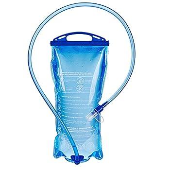 Sannofair Poche d'hydratation de 2 litres avec réservoir d'eau, étanche, sac de rangement d'eau sûr, parfait pour la randonnée, le cyclisme, l'escalade, le camping, la course à pied