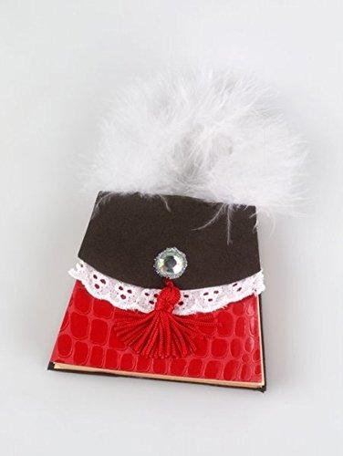 Handbag Notes - Red Croco: Trendige Mini-Designertasche mit Notepad