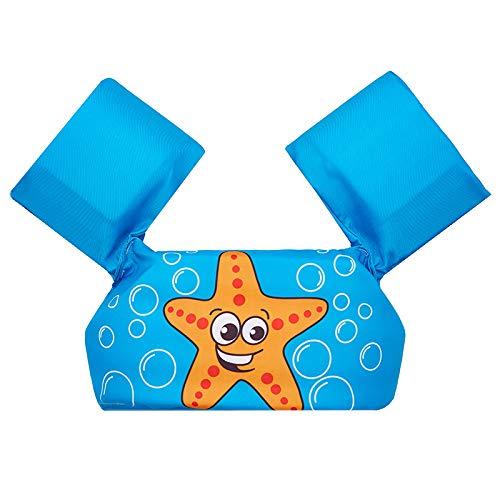 T TOOYFUL Galleggianti per Il Nuoto Braccialetti Galleggianti Premium per Il Nuoto da 2 a 6 - Blue + Rosa, Stella Marina