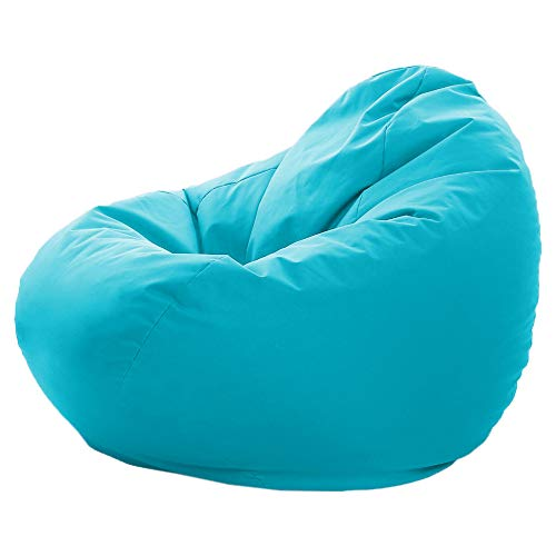 GlueckBean Bodenkissen Sitzsack Sessel 2 in 1 Funktion Outdoor Indoor mit Füllung Sitzkissen Kissen (145cm Durchmesser, Türkis)